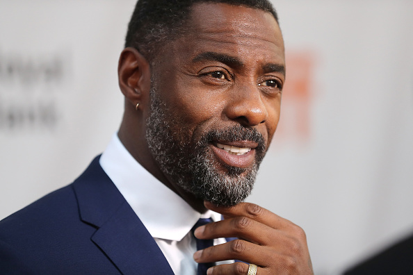 """TORONTO, ON - SEPTEMBER 10:  Actor Idris Elba speaks to the media at the premiere of """"The Mountain Between Us"""" during the 2017 Toronto International Film Festival at Roy Thomson Hall on September 10, 2017 in Toronto, Canada.  (Photo by J. Countess/WireImage)"""